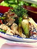Cuttlefish with spring onions and lemon grass