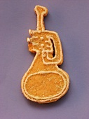 Decorated sweet pastry biscuit (trumpet)
