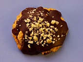 Chocolate biscuit with nuts