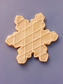 Decorated sweet pastry biscuit (star)