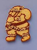 Decorated sweet pastry biscuit (Father Christmas)