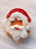 Father Christmas head in sweet pastry