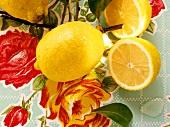 Lemons and lemon halves