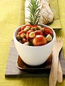 Chick pea and tomato salad