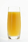 Orange juice in tall glass