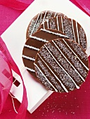 Chocolate cookies on gift bag