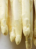 White asparagus with drops of water