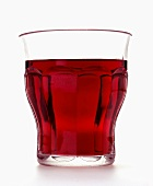 Red grape juice in glass