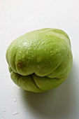 Chayote with drops of water