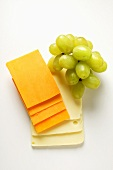 Extra Sharp Cheddar and American cheese with grapes