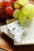 Buttermilk blue cheese with grapes