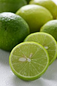 Fresh Key limes (close-up)