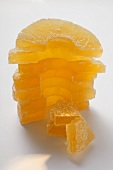 Candied pineapple pieces