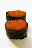 Gunkan-sushi with tobiko (flying fish caviare)