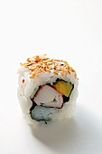 Inside-out roll with surimi