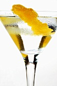 Martini with lemon rind
