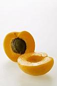 Fresh apricot, halved