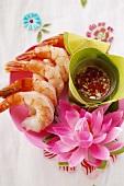 Shrimps with Thai chili sauce