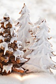 Gingerbread fir trees