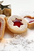 Biscuits with raspberry jam