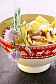 Krautfleckerl (pasta and cabbage) with chives