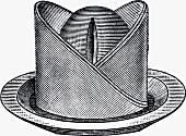 Dekorativ gefaltete Serviette (Illustration)