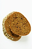 Two slices of wholemeal bread