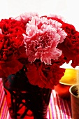 Bouquet of red and pink carnations