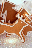 Gingerbread fir trees and reindeers