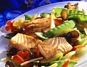 Salmon fillet with Asian vegetables