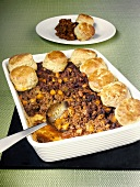 Mince cobbler with scones