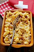 Aelpler Magroone: macaroni and potato dish from Switzerland