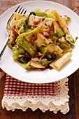 Krautfleckerl (pasta and cabbage) with bacon (Austria)