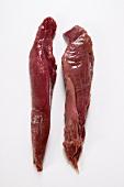 Two fresh venison fillets