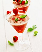 Strawberry drink with basil