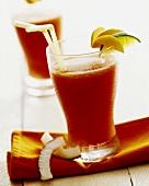 Papaya drink with coconut