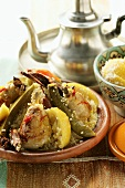 Couscous with chicken, courgettes, tomatoes, lemons & cinnamon