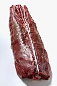 Raw saddle of venison