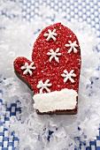 Chocolate praline glove for Christmas
