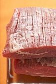 Raw flank steaks