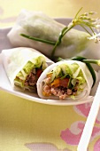 Filled rice paper rolls from Vietnam