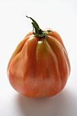 A tomato (standing on its end)