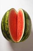 Watermelon with slice cut out