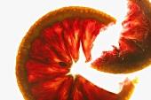 Rosa Grapefruit, durchleuchtet
