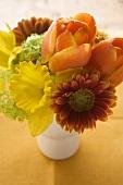 Bunch of spring flowers in vase