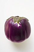 Purple Thai aubergine with drops of water