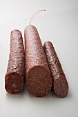 Paprika salami, boiled salami and Cabanossi