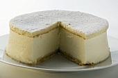 Cream cheesecake, a piece taken