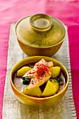 Potato curry with mango and poppy seeds (India)