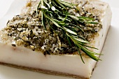 Bacon fat from Tuscany with rosemary